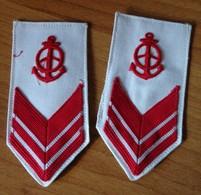 Sottocapo Autista Meccanico - Marina Militare - Gradi In Stoffa  Pre 1970  Italian Navy Seaman Ranks Vintage (rif.163) - Marine