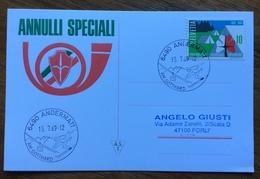 SCI   ANDERMATT 15/7/69 AM GOTTHARD  ANNULLO SPECIALE SU CARTOLINA - Sci