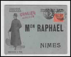53211 Semeuse N°129 Granier Gare De Miramas Cad A3 1906 Maison Raphael Nimes Gard Tailleur Enveloppe Illustree - 1877-1920: Période Semi Moderne