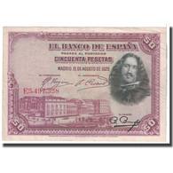 Billet, Espagne, 50 Pesetas, 1928, 1928-08-15, KM:75b, TB - [ 1] …-1931 : Prime Banconote (Banco De España)