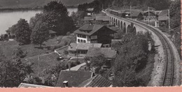 OUDE POSTKAART  ZWITSERLAND - SCHWEIZ - SUISSE -     TREIN - BAHN  - RINGGENBERG 1950'S - BE Berne