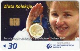 POLAND B-614 Chip Telekom - Sport, Olympic Medal Winner - Used - Polen