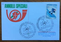 SCI MONDIALI S.CRISTINA VAL GARDENA  GRODEN - SKY W.M. 11/2/1970  Annullo Speciale Su Cartolina - Sci