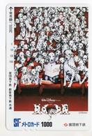 CARTE PREPAID JAPON DISNEY FILM 101 DALMATIENS - Disney
