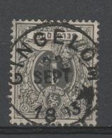 Belgique - 1884-88 . Obl. - COB 43 - 1c - Oblitération - GINGELOM - Brrrr . - 1869-1888 Lion Couché
