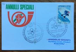 SCI MONDIALI S.CRISTINA VAL GARDENA  GRODEN - SKY SLALOM G.M. RIESENS  10/2/1970  Annullo Speciale Su Cartolina - Sci
