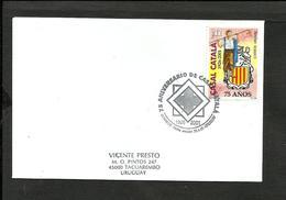 URUGUAY CATALUÑA 2001 75 ANNIV.CASAL CATALA MI. 2591 FDC - Uruguay