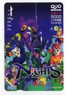 CARTE QUO PREPAID JAPON SEGA NIGHTS 1996 - Jeux