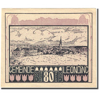 Billet, Autriche, Leonding, 80 Heller, Paysage, SUP, Mehl:FS 513a - Autriche