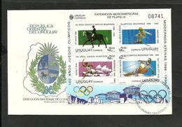 URUGUAY OLIMPIC MICHEL BL. 70 FDSC, VERY RARE - Uruguay