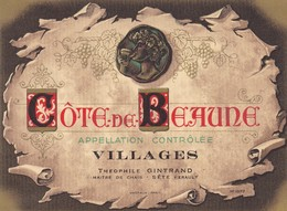 JOLI LOT DE 9 ETIQUETTES / GRAND VINS  / THEOPHILE GINTRAND / SETE / - Côtes Du Rhône