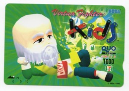 CARTE QUO PREPAID JAPON SEGA KIDS 1996 - Jeux