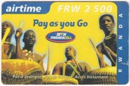 RWANDA A-004 Prepaid MTN - People, Traditional Musicians - Used - Rwanda