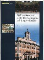 2011 Italia, Folder 150° Anniversario Proclamazione Del Regno D'Italia, Al Prezzo Di Copertina - 1946-.. République