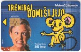 SLOVENIA B-547 Chip Telekom - Cartoon, Animal, Mouse - Used - Slovénie
