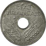 Monnaie, France, État Français, 20 Centimes, 1944, Paris, TTB, Zinc - E. 20 Centimes
