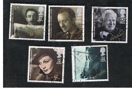 GRAN BRETAGNA (UNITED KINGDOM) -  SG 1298.1302  -  1985 BRITISH FILM YEAR (COMPLET SET OF 5) - USED - 1952-.... (Elizabeth II)