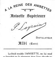 ALBI / A LA REINE DES ANISETTES / LEGRAIN - Etiquettes