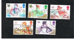 GRAN BRETAGNA (UNITED KINGDOM) -  SG 1303.1307  -  1985 CHRISTMAS: PANTOMIME (COMPLET SET OF 5) - USED - 1952-.... (Elizabeth II)