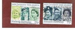 GRAN BRETAGNA (UNITED KINGDOM) -  SG 1316.1317  -  1986 QUEEN ELIZABETT II: 60^ BIRTHDAY      - USED - 1952-.... (Elizabeth II)