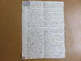 Très Ancienne Lettre Du 14 Février 1791 ! A Identifié - Voir Les Photos - MISE A PRIX 1€ ! Pensez A Regroupez Vos Achats - Manuscrits