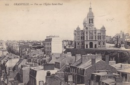 50. GRANVILLE. CPA. VUE SUR L'EGLISE SAINT PAUL. ANNÉE 1908 - Granville