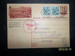 Helvetia: 1943 Censored Uprated Postal Card To Deutschland (#EQ9) - Switzerland