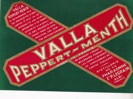 ALBI / LEGRAIN / VALLA PEPPERT MENTH / DISTILLERIE DE LA PHARAONNE / RARE - Etiquettes
