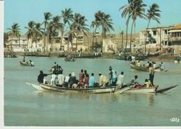 C.P. - PHOTO - COULEURS DU SÉNÉGAL - SAINT LOUIS - LA RUE DU FLEUVE - 1014 - M. RENAUDEAU - HOA QUI - Sénégal