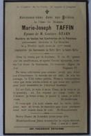 Estaires - Le Doulieu : Image Mortuaire De TAFFIN Marie Jhe (X STAES Gustave Apollinaire) - Décès