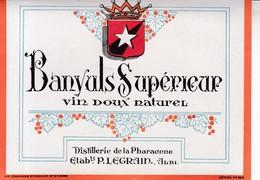 ALBI / LEGRAIN / BANYULS SUPERIEUR  / DISTILLERIE DE LA PHARAONNE / - Etiquettes