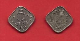 NETHERLAND ANTILLES, 1 Coin. 5 Cent Square - Antilles Neérlandaises