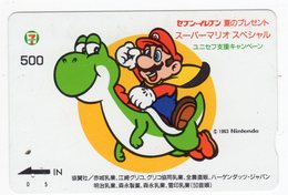 CARTE QUO PREPAID JAPON JEU NINTENDO MARIO 1993 - Jeux