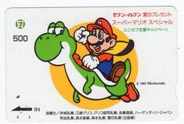 CARTE QUO PREPAID JAPON JEU NINTENDO MARIO 1993 - Games