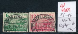 SBZ Nr. 85-86 WaB    Geprüft   O   (ed4451 ) Siehe Scan - Zone Soviétique