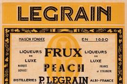 ALBI / LEGRAIN / LIQUEUR DE LUXE FRUX PEACH - Etiquettes