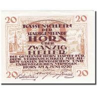 Billet, Autriche, Horn, 20 Heller, Village, 1920-07-31, SPL Mehl:FS 397IIa - Autriche