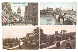 FOUR NEWPORT MONMOUTHSHIRE OLD POSTCARDS - Monmouthshire