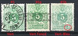 Belgique 1884-88 - * - COB 45b - CURIOSITE - Double Points Après Belgique - - Plaatfouten En Curiosa
