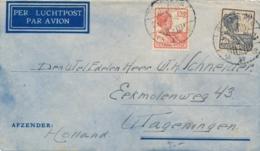 Nederlands Indië - 1934 - 30 & 12,5 Cent Wilhelmina Op LP-cover Van LBnr BALIKPAPAN/3 Naar Wageningen - Nederlands-Indië