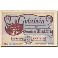 Billet, Autriche, Winklarn, 50 Heller, Eglise 1920-12-30, SPL Mehl:FS 1246d - Autriche