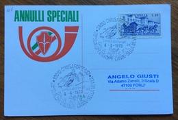 SCI CHIUSAFORTE UDINE 28 SLALOM GIGANTE  CANIN-SELLA NEVEA  4/4/1970  Annullo Speciale Su Cartolina - Sci