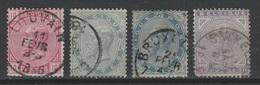 BELGIQUE - 1883 - Obl. - COB 38/41 - Léopold II - Série - Valeur 100€ - 1869-1883 Leopoldo II