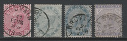 BELGIQUE - 1883 - Obl. - COB 38/41 - Léopold II - Série - Valeur 100€ - 1869-1883 Léopold II