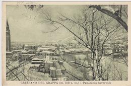 CRESPANO DEL GRAPPA - TREVISO - PANORAMA INVERNALE - CARTOLINA VIAGGIATA NEL 1952 - - Treviso