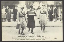 D 75 - PARIS - CINQUANTENAIRE DE LA REPUBLIQUE - Le Coeur De GAMBETTA Quittant Le Panthéon Porté Par Un Invalide - France