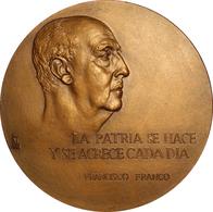 ESPAÑA. FRANCISCO FRANCO. MEDALLA F.N.MT. MADRID 3 MILLONES HABITANTES. 1.968. ESPAGNE. SPAIN MEDAL - Monarquía/ Nobleza