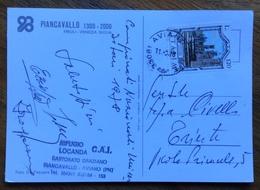SPORT INVERNALI CARTOLINA AUTOGRAFA DELEGATO CONI DR.ENZO CIVELLI DA PIANCAVALLO PER I CAMPIONATI UNIVERSITARI  1978 - Sci