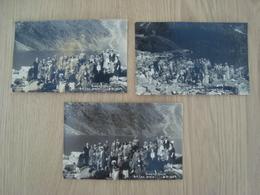 LOT DE 3 CP PHOTO LAC MORSKIO OKO POLOGNE GROUPE DE PERSONNES 1934 - Pologne