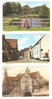 THREE DITCHLING Nr LEWES EAST SUSSEX POSTCARDS - England
